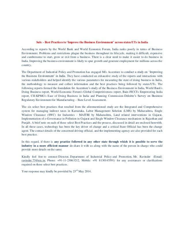 DIPP - Improve business environment_06may2014