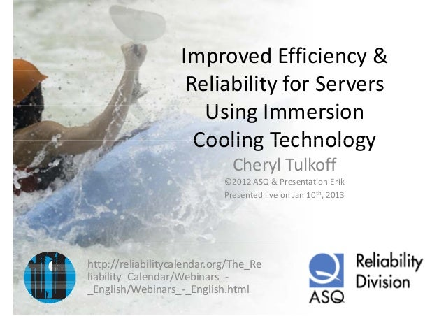 Improved efficiency & reliability for servers using immersion cooling technology
