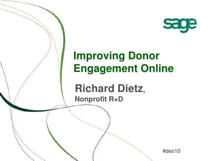 Improving Donor Engagement Online
