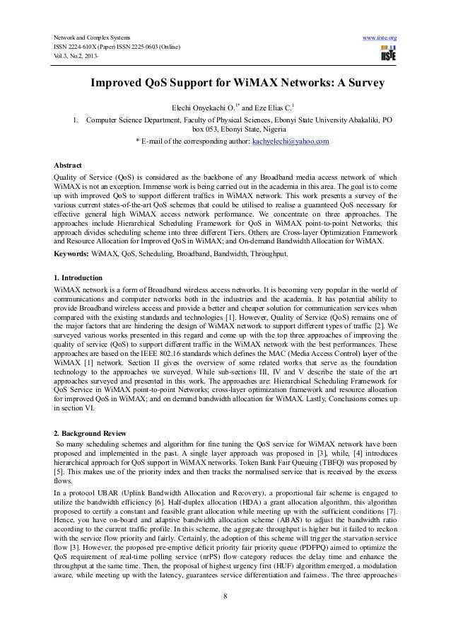 Network and Complex Systems www.iiste.orgISSN 2224-610X (Paper) ISSN 2225-0603 (Online)Vol.3, No.2, 2013-8Improved QoS Sup...