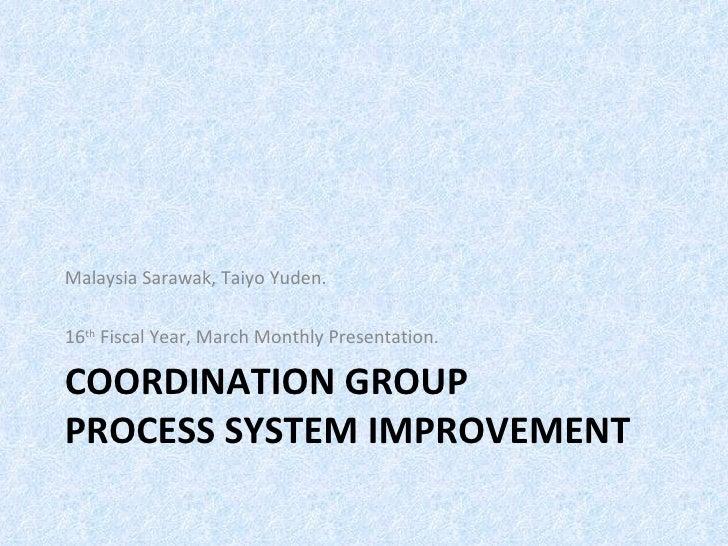 Improvement March Presentation