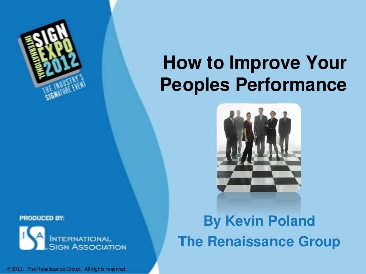 Improve Your Peoples Performance - ISA Presentation
