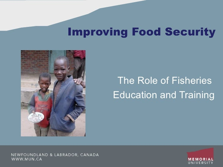 Improving Food Security The Role of Fisheries  Education and Training