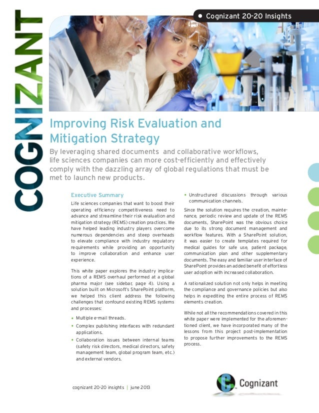 Improving Risk Evaluation and Mitigation Strategy