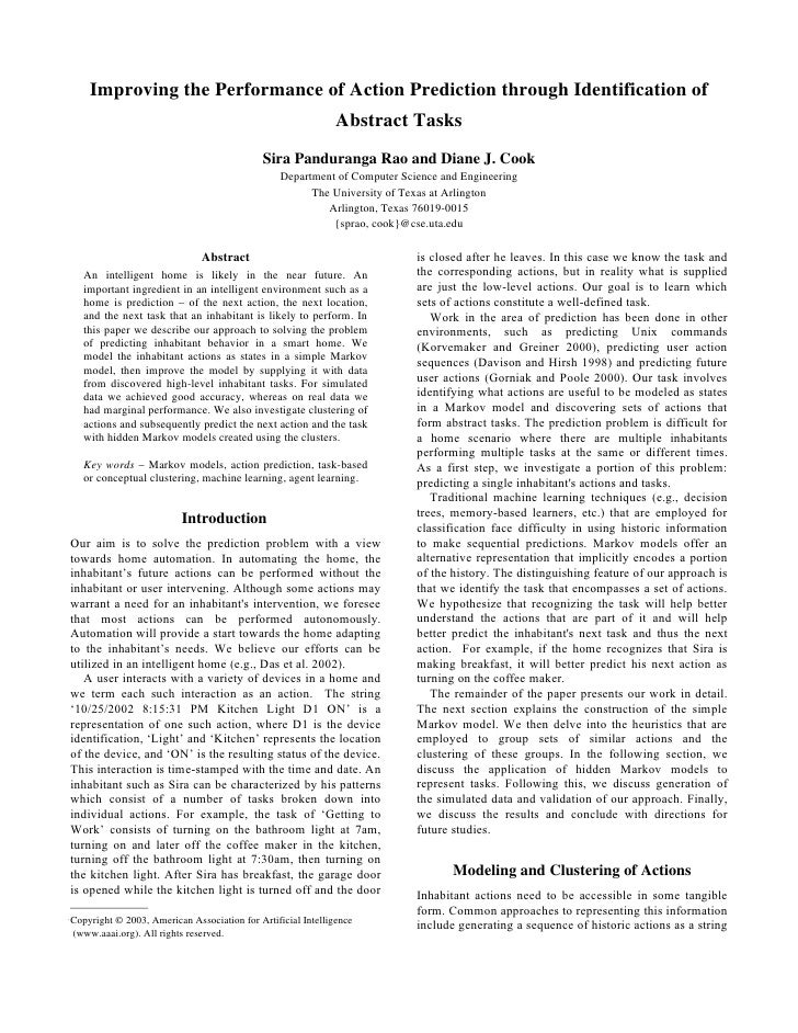 Improving the Performance of Action Prediction through ...