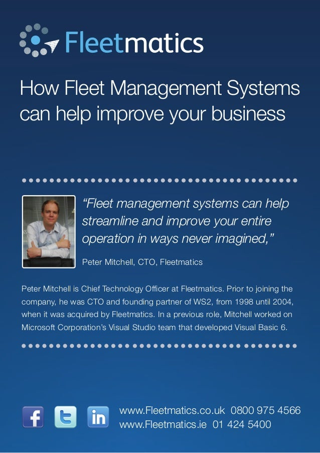 """How Fleet Management Systems can help improve your business """"Fleet management systems can help streamline and improve your..."""
