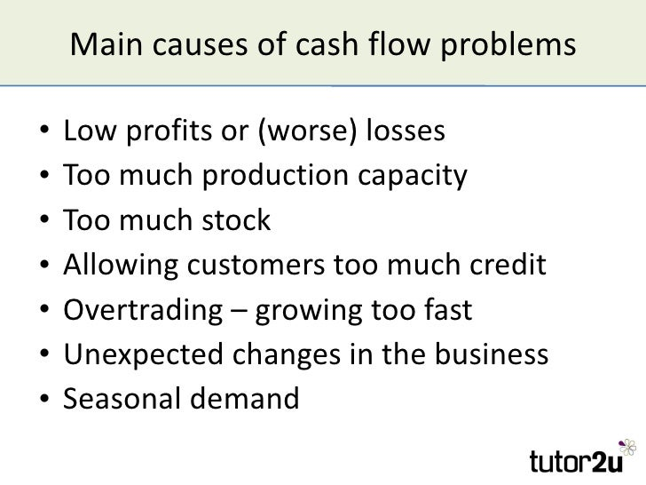 cash flow problems and solutions essay This essay covers important topics related to the management of cash flow from customers is the problem the solution is cash flow management and.