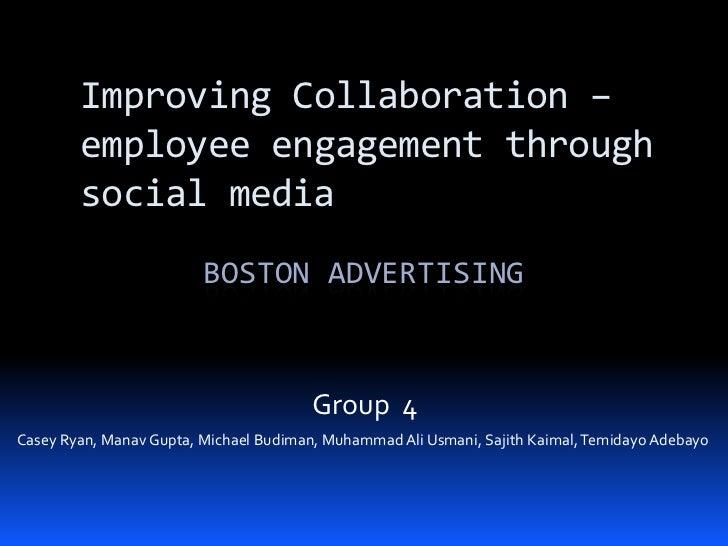 Improving collaboration – employee engagement through social media