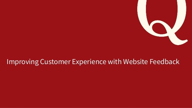 Improving Customer Experience with Website Feedback