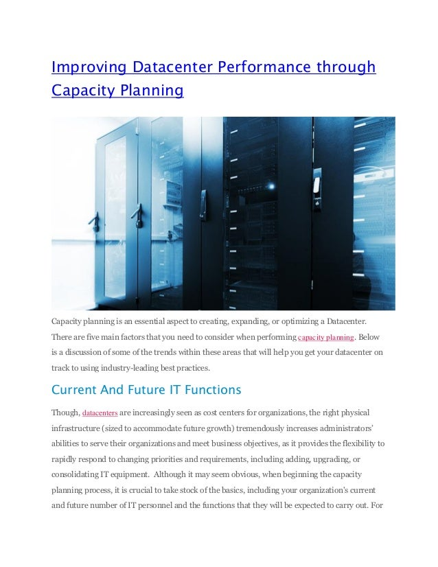 solutions of capacity planning Mbi solutions' capacity management services may utilize your existing tools or, if  you prefer, leverage bmc's capacity optimization (bco) model to provide all.