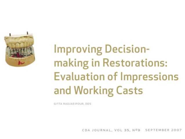 Improving decision for working cast