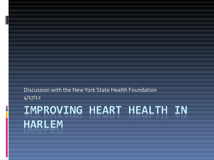 Improving heart health in harlem
