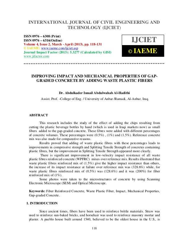 INTERNATIONAL JOURNAL and Technology (IJCIET), ISSN 0976 – 6308  International Journal of Civil Engineering OF CIVIL ENGIN...