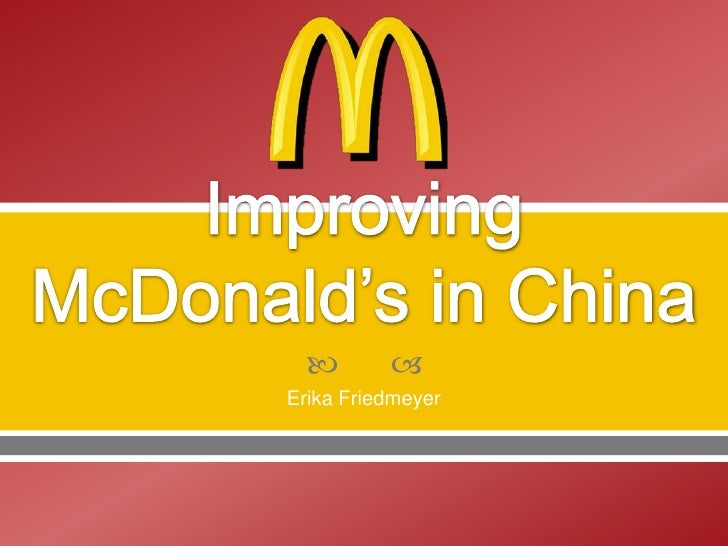 Improving McDonald's in China
