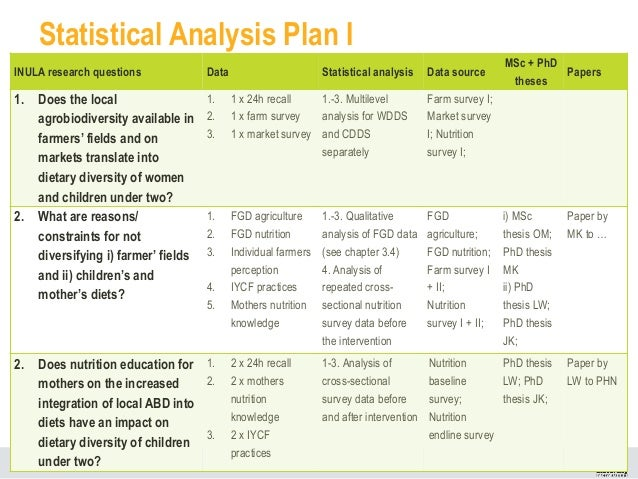 Phd Thesis Plan