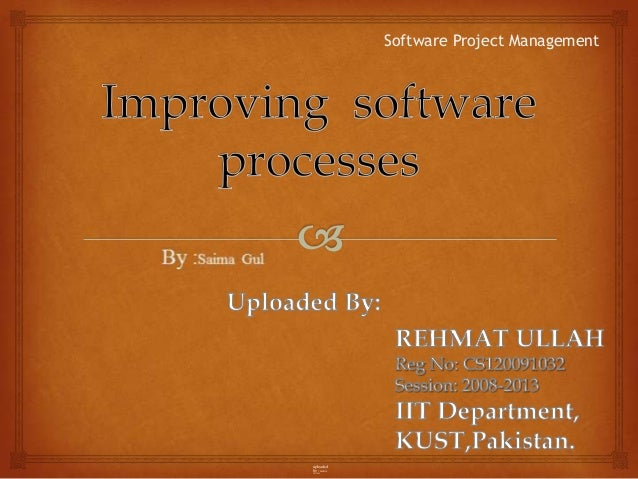 Improving of software processes
