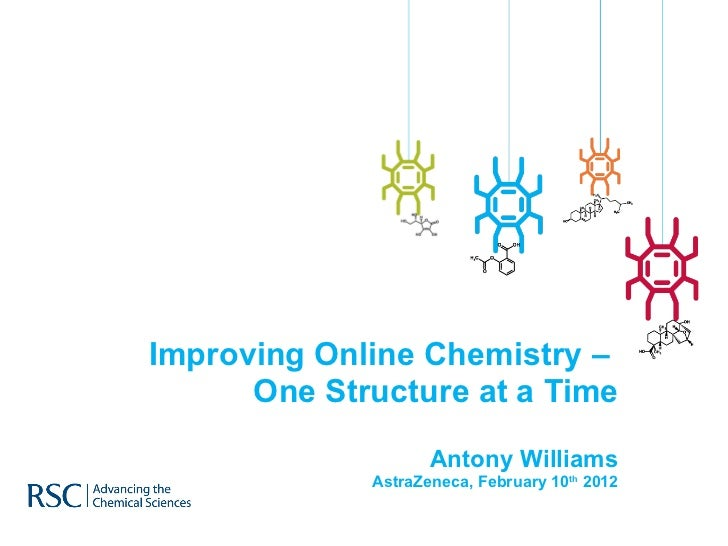 Improving Online Chemistry –  One Structure at a Time Antony Williams AstraZeneca, February 10 th  2012