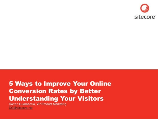 5 Ways to Improve Online Conversions