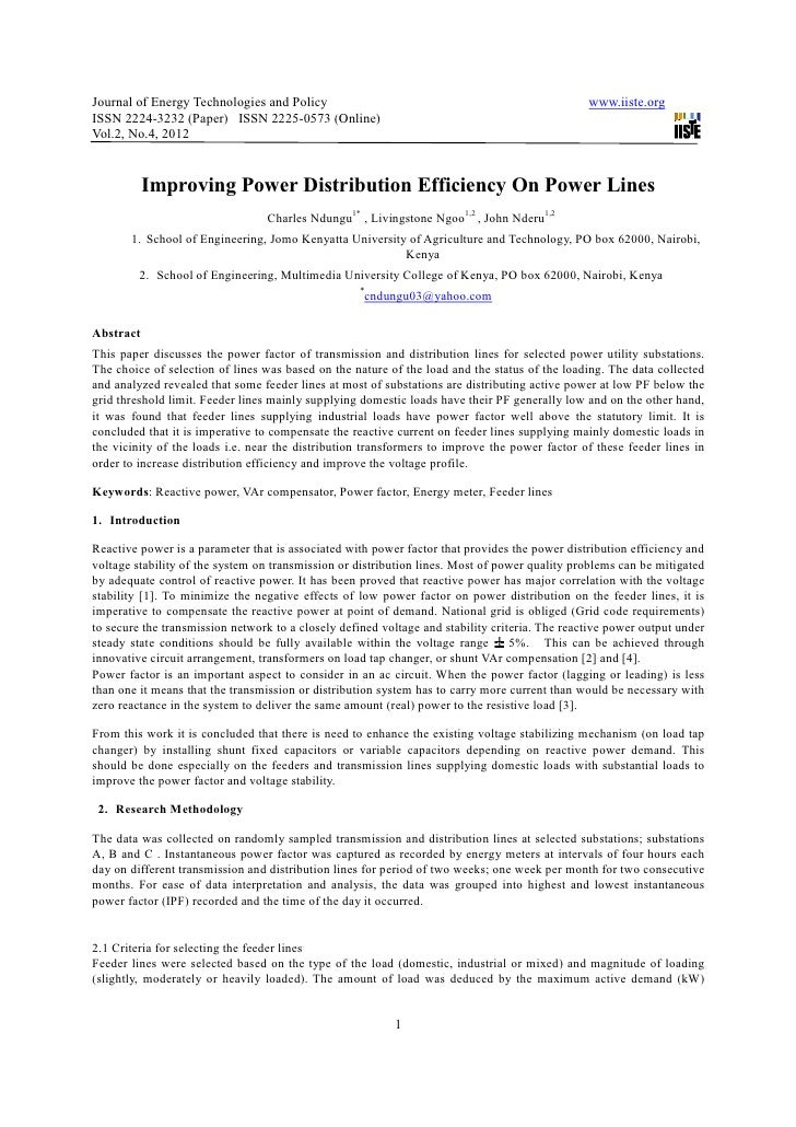 Journal of Energy Technologies and Policy                                                       www.iiste.orgISSN 2224-323...