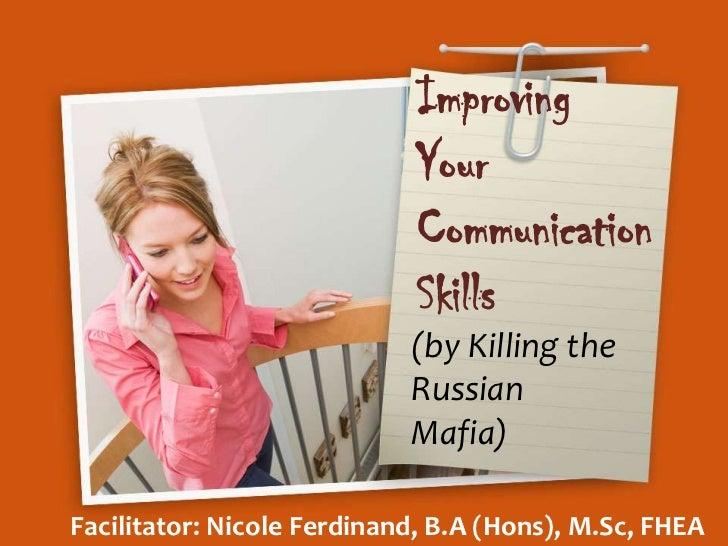 Improving your communication skills workshop