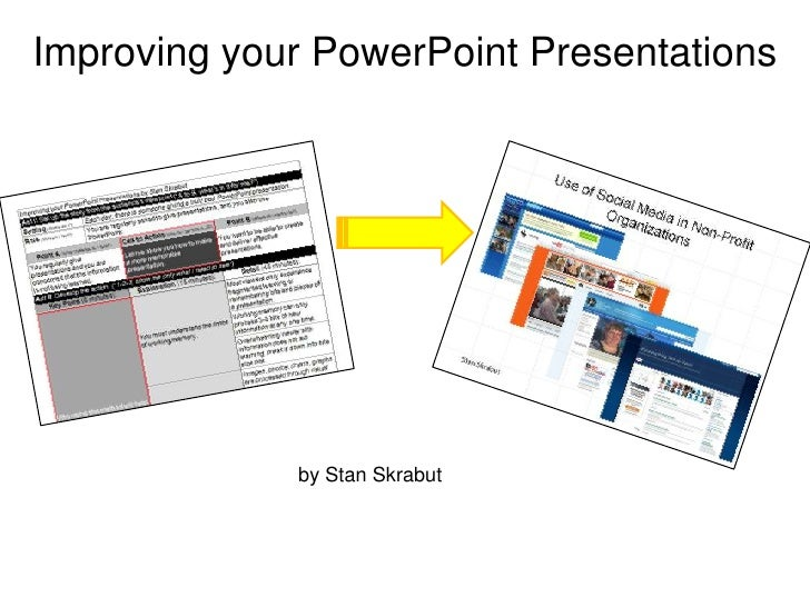 Improving your PowerPoint Presentations<br />by Stan Skrabut<br />@skrabut<br />#UWCES and #netc2010<br />http://www.slide...