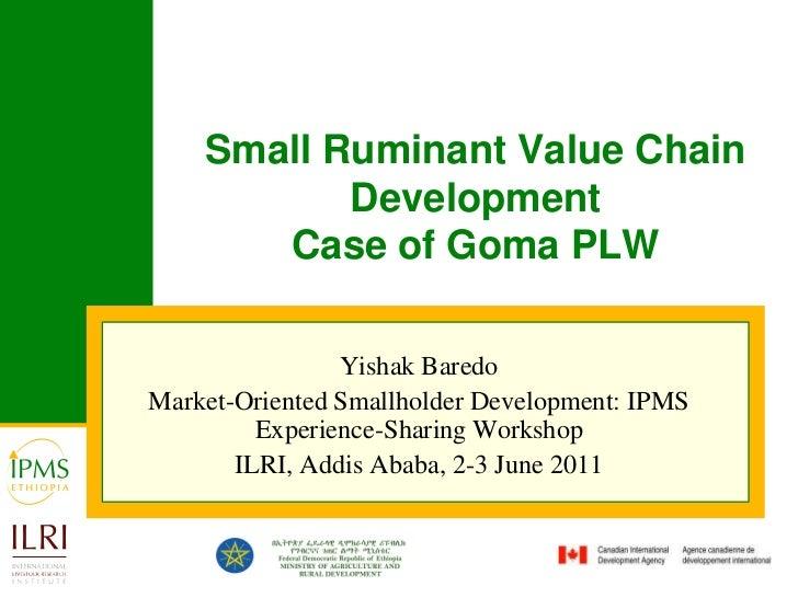 Small ruminant value chain development case of Goma PLW