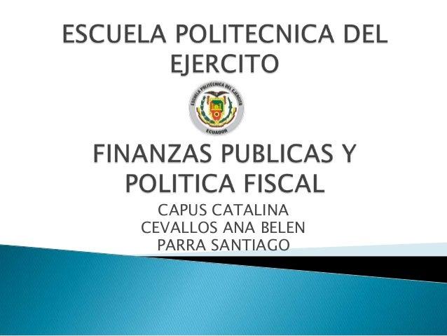 CAPUS CATALINA CEVALLOS ANA BELEN PARRA SANTIAGO