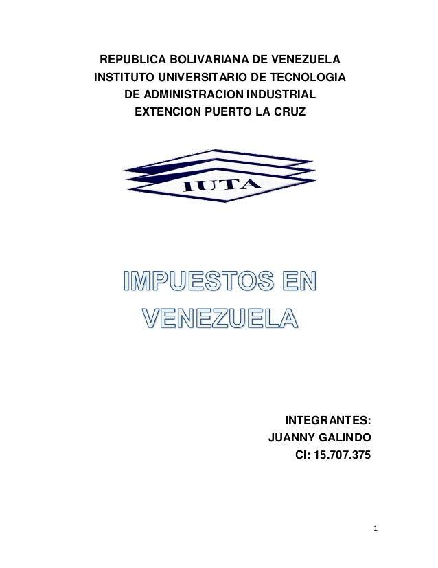 1 REPUBLICA BOLIVARIANA DE VENEZUELA INSTITUTO UNIVERSITARIO DE TECNOLOGIA DE ADMINISTRACION INDUSTRIAL EXTENCION PUERTO L...