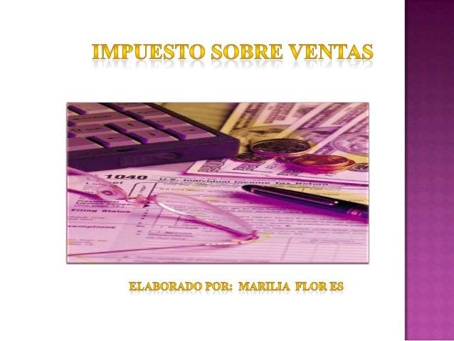 Impuesto sobre ventas 2013