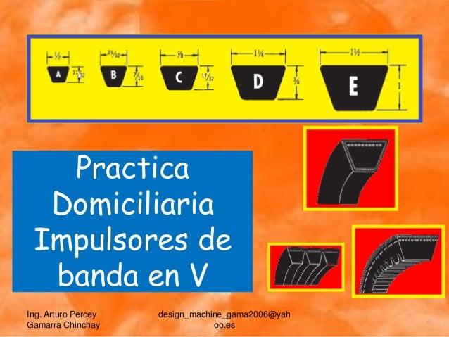 Practica  Domiciliaria Impulsores de  banda en VIng. Arturo Percey   design_machine_gama2006@yahGamarra Chinchay          ...