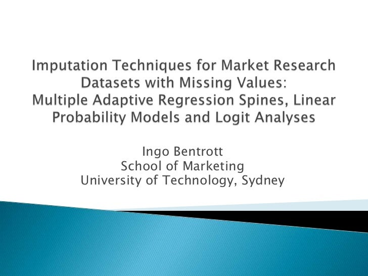 Imputation Techniques For Market Research Datasets With Missing Values