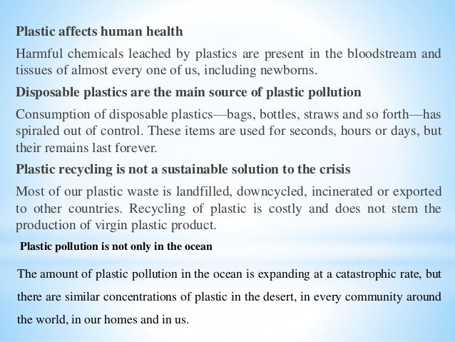 Plastic bags effects on human health - Plastic Bags And Its Impact On Environment