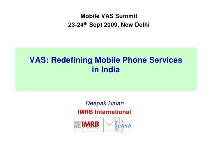 IMRB Represented at The Mobile VAS SUMMIT 2009