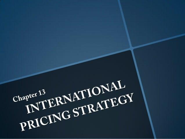 International Pricing Stategy