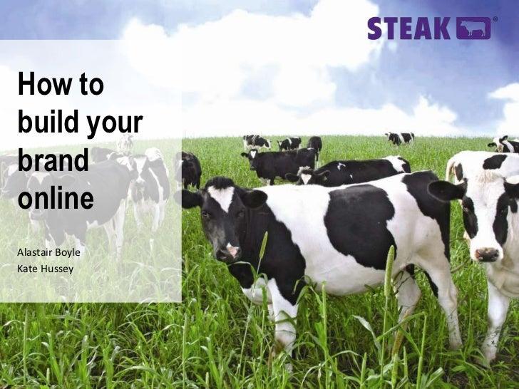 Steak on Digital Branding - IMRG event