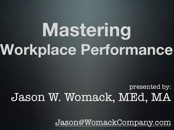 Mastering Workplace Performance for the Institute of Management Studies