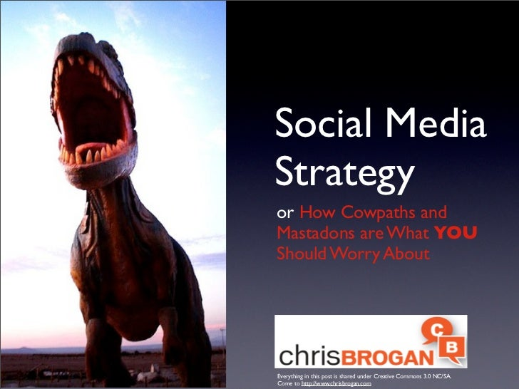 Social Media Strategy or How Cowpaths and Mastadons are What YOU Should Worry About     Everything in this post is shared ...