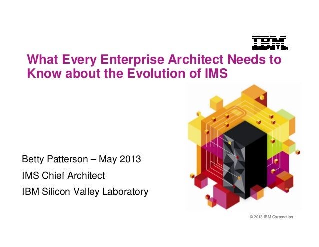 © 2013 IBM CorporationWhat Every Enterprise Architect Needs toKnow about the Evolution of IMSBetty Patterson – May 2013IMS...