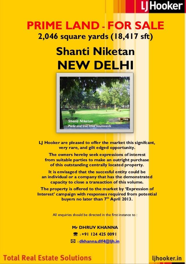 2000 sq yards for Sale In Shantiniketan, New Delhi
