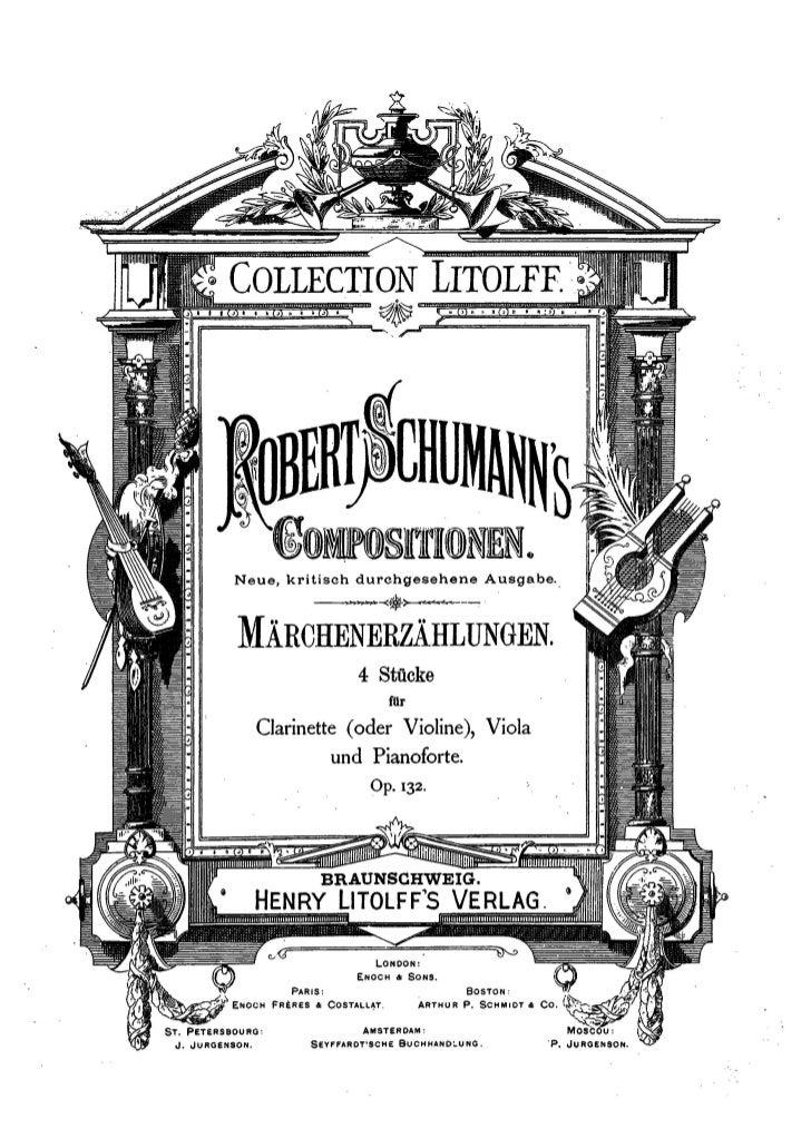 Schuman marchenerzahlungen Op.132