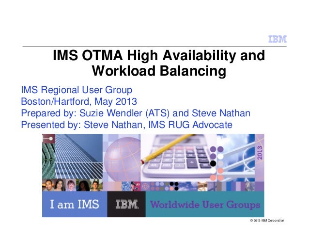 IMS OTMA High Availability andWorkload BalancingIMS Regional User GroupBoston/Hartford, May 2013Prepared by: Suzie Wendler...