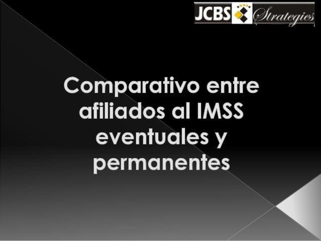 IMSS - afiliados permanentes vs temporales
