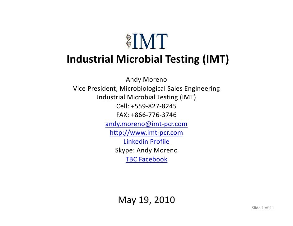 Imt Assays 05 19 2010