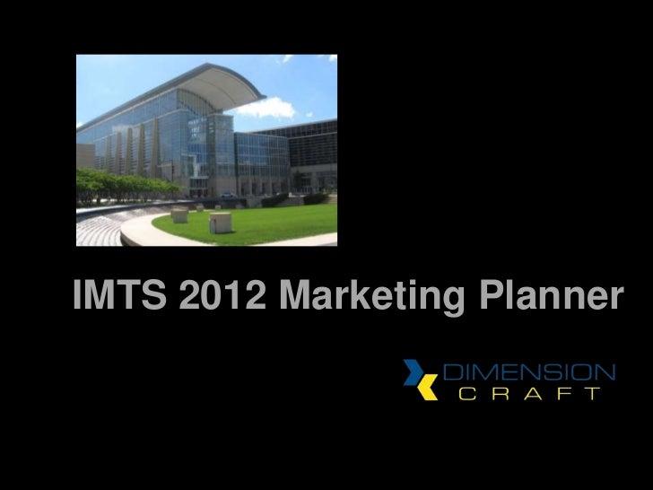IMTS 2012 Marketing Planner