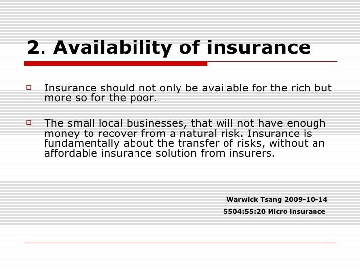literature review on microinsurance