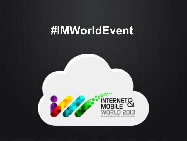 #IMWorldEvent