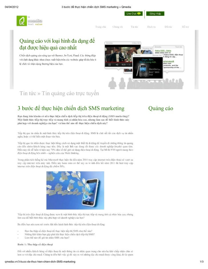 3 bước để thực hiện chiến dịch sms marketing » qmedia