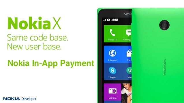 In-App payments for Nokia X software platform