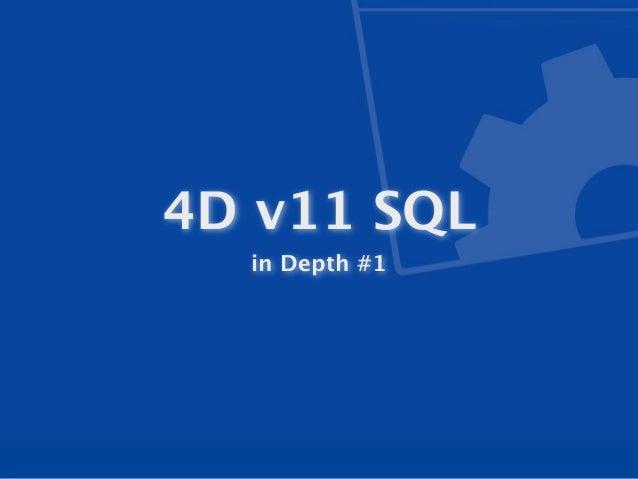 In Depth 4D v11 SQL 2010-03-03