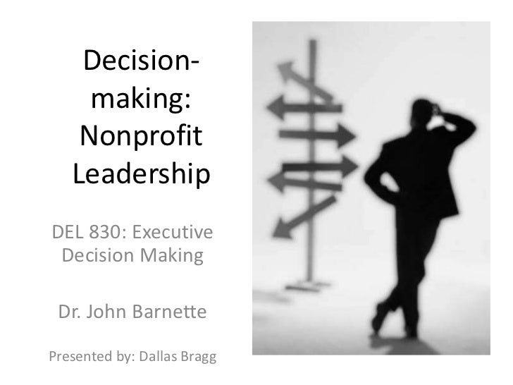 Nonprofit Decision Making